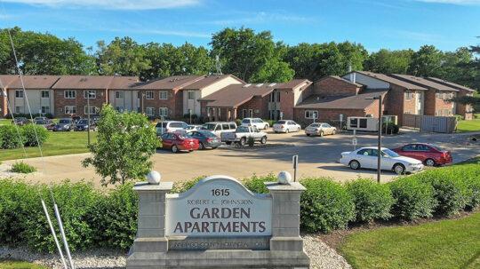 Robert Johnston Garden Apartments front entrance