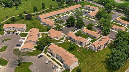 Westport Village Apartments aerial